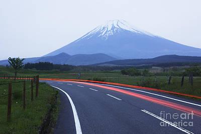 Fuji Mountain Photograph - Road Near Mount Fuji by Jeremy Woodhouse