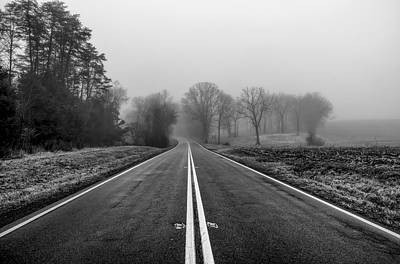Photograph - Road On A Foggy Morning by Lori Coleman