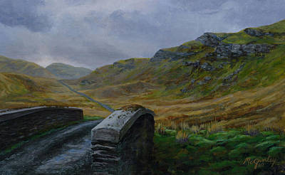 Painting - Road Over Donegal Bridge by Laurie McGinley