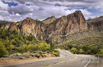 Digital Art - Road Past Saguaro Lake by Georgianne Giese
