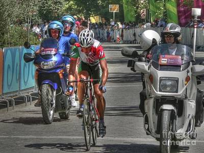 Road Race Leader In Athens Print by David Bearden