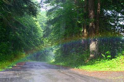 Photograph - Road Rainbow by Kathryn Meyer