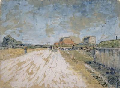 Painting - Road Running Beside The Paris Ramparts Paris, June - September 1887 Vincent Van Gogh 1853  1890 by Artistic Panda