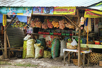 Road Side Store Philippines Art Print by James BO  Insogna