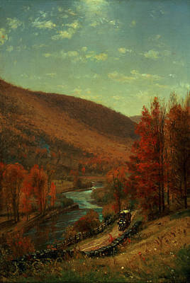 Fall Of River Painting - Road Through Belvedere by Thomas Worthington