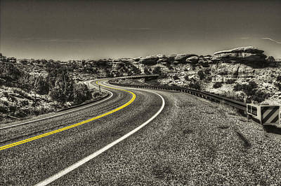 Photograph - Road Through Canyonlands National Park by Roger Passman