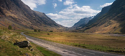 Photograph - Road Through Glencoe by Alex Saunders