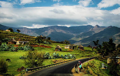Photograph - Road Through Lesotho Village by RayZa Photography