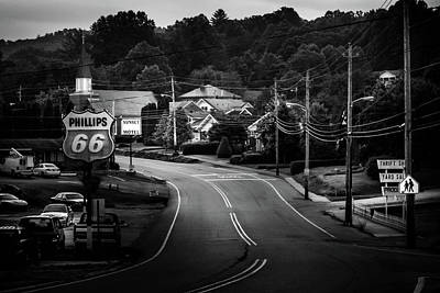 Murphy Photograph - Road Through Town In Black And White by Greg Mimbs