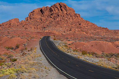 Photograph - Road Through Valley Of Fire, Nv by Gunter Nezhoda