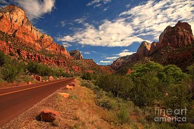 Photograph - Road Through Zion by Adam Jewell