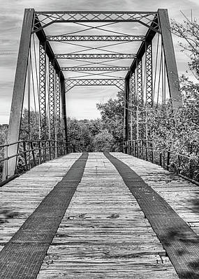 Photograph - Road To Abilene In Black And White by JC Findley
