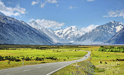 New Zealand Photograph - Road To Aoraki by Delphimages Photo Creations