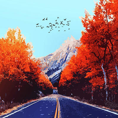Painting - Road To Autumn by Andrea Mazzocchetti