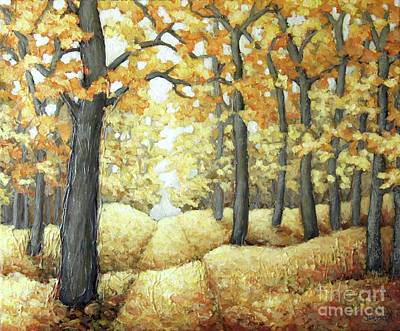 Painting - Road To Autumn by Inese Poga