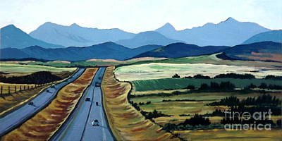 Road To Banff Print by Diane Ellingham