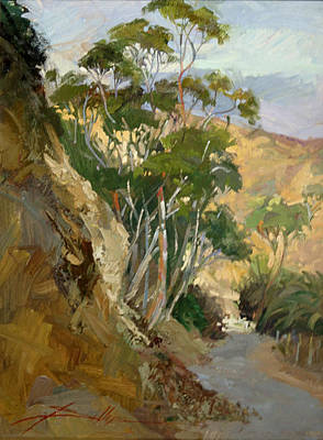 Betty Billups Wall Art - Painting - Road To Descanso Catalina by Betty Jean Billups