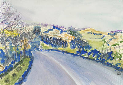 Painting - Road To Dolgellau by Maura Satchell