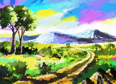 Road To The Hills Original by Anthony Mwangi