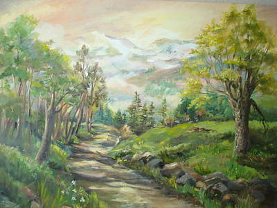 Road To Grandfather Mountain Art Print by Marilyn Masters