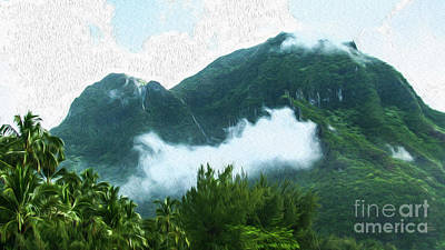 Photograph - Road To Hanalei  by Roselynne Broussard