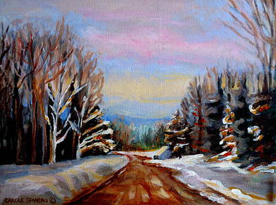 Quebec Painting - Road To Knowlton Quebec by Carole Spandau