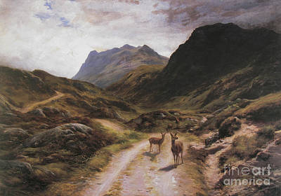 Joseph Farquharson Wall Art - Painting - Road To Loch Maree by Celestial Images