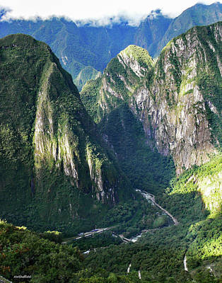 Photograph - Road To Machu Picchu  by Allen Sheffield