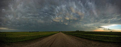 Road To Mammatus Art Print by Aaron J Groen