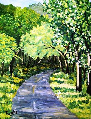 Painting - Road To Margalla  by Fareeha Khawaja