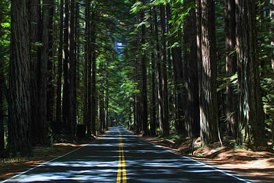 Road To Mendocino Art Print