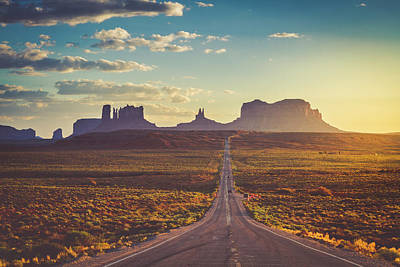 Photograph - Road To Monument Valley Forest Gump Point by Teri Virbickis