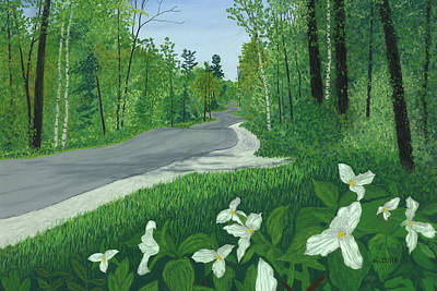 Pastel - Road To Northport - Spring by George Burr