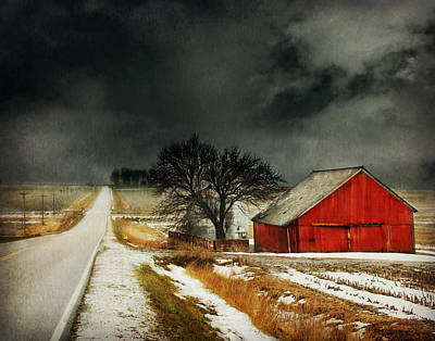 Red Photograph - Road To Nowhere by Julie Hamilton