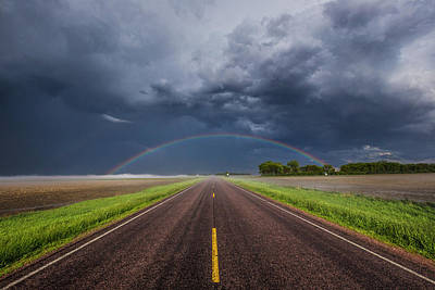 Photograph - Road To Nowhere - Rainbow by Aaron J Groen