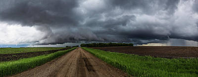Canton Photograph - Road To Nowhere - Tornado by Aaron J Groen