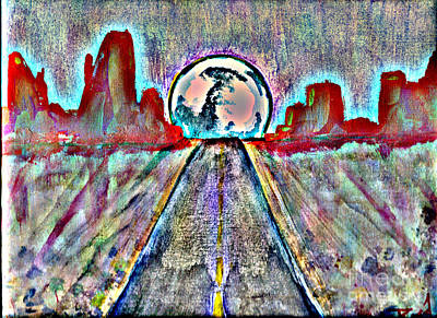 Art Print featuring the painting Road To Sedona 2 by Reed Novotny