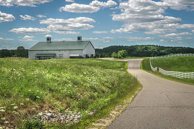 Pineland Farms Photograph - Road To The Barn by Jane Luxton