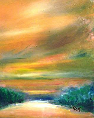 Painting - Road To The Beach At Sunset by Patricia Taylor
