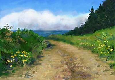 Painting - Road To The Beach by Elaine Pawski