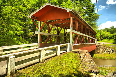 Photograph - Road To The Colvin Covered Bridge by Adam Jewell