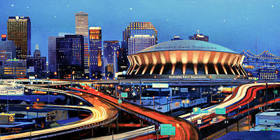 Fighting Tigers Painting - Road To The Dome by Mike Roberts