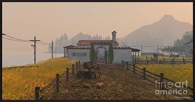 Digital Art - Road To The Farmhouse by Susanne Baumann