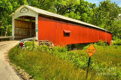 Photograph - Road To The Newport Covered Bridge by Adam Jewell