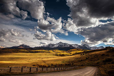 Road To The Rockies Art Print by Andrew Soundarajan