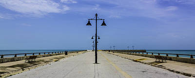 Art Print featuring the photograph Road To The Sea by Paula Porterfield-Izzo