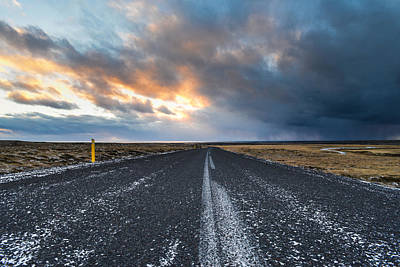 Art Print featuring the photograph Road To The Sky by Alex Blondeau