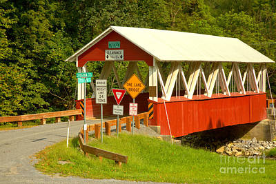Photograph - Road To The St. Mary Covered Bridge by Adam Jewell