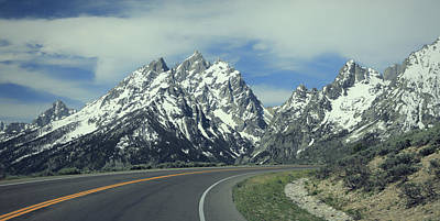 Photograph - Road To The Tetons by Dan Sproul