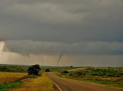 Art Print featuring the photograph Road To The Twister by Ed Sweeney